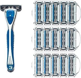Swift Hero 3 Blades Shaving Razor-men's system safety razor-handle and 10 pcs of changeable cartridges