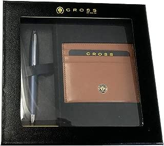 CROSS カレイ ペン&レザーカードケース 数量限定ギフトセット AT0112‐18/1 ミットナイトブルー+タン