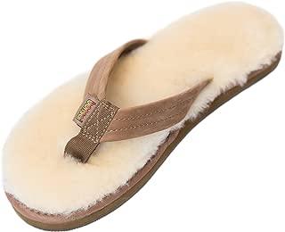 Womens Sheepskin Sandals (10, Brown)