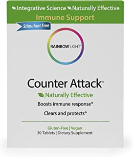 Rainbow Light - Counter Attack - Vitamin C and Zinc Supplement; Vegan and Gluten-Free; Herbal Blend Provides Immune Suppor...