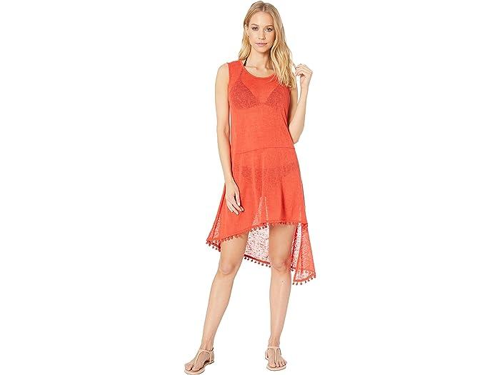 Echo New York Pom Pom Slub Tank Dress