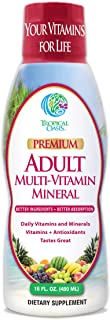 Tropical Oasis Adult Liquid Multivitamin -Liquid Multi-Vitamin and Mineral Supplement with 125 Total Nutrients Including; ...