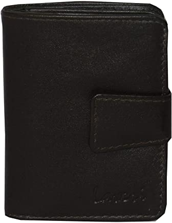 Laveri Bill and Card Holder Unisex Wallet, Leather - Brown