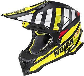 Nolan N53 Cliffjumper Motocross Helm Schwarz/Gelb/Weiß XXS 54