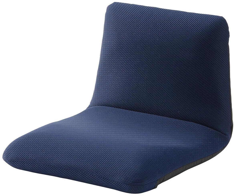 鍔不適真向こうセルタン 座椅子 和楽チェア Sサイズ メッシュブルー 背筋ピン 背部リクライニング 日本製 A455a-505BL