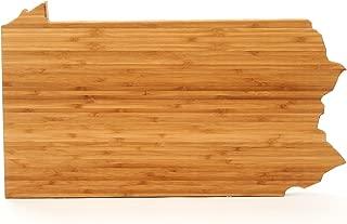 Cutting Board Company Pennsylvania Shaped Cutting Board, Bamboo Cheese Board