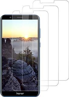 DOSNTO Protector de Pantalla para Huawei Honor 7X Cristal Templado, [3 Pack] [9H Dureza] [Sin Burbujas] [Alta Definicion][Resistente a Arañazos] Vidrio Templado Screen Protector para Huawei Honor 7X