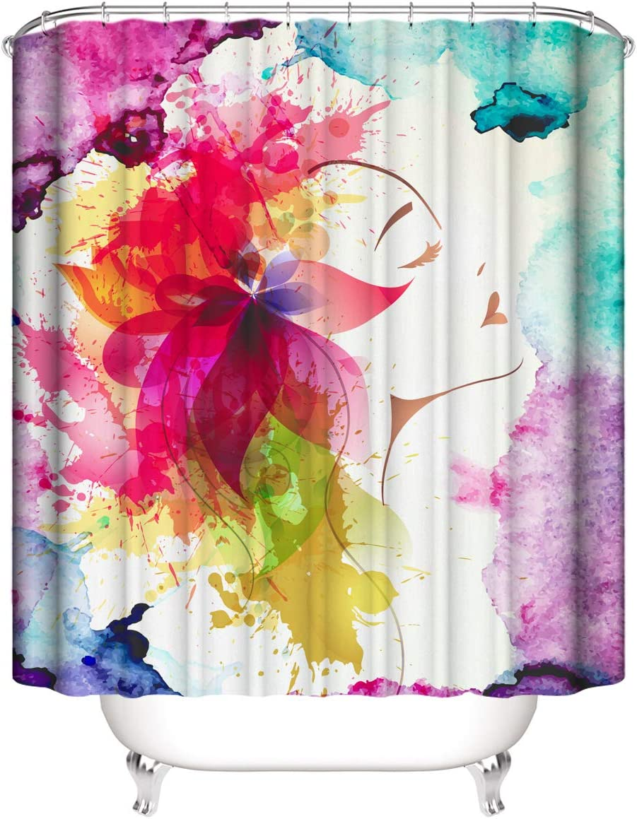 Snow Shower Curtain Set for Fabric Bathroom Max 63% OFF Deer Bath Safety and trust Curtains