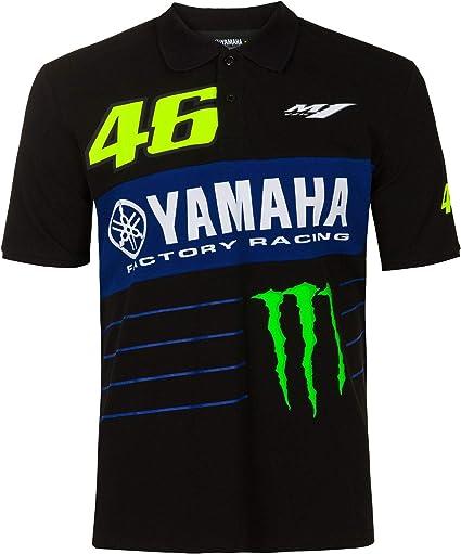 Valentino Rossi Polo Shirt Vr46 Motogp M1 Power Line Logo Yamaha Offizielle 2020 Sport Freizeit