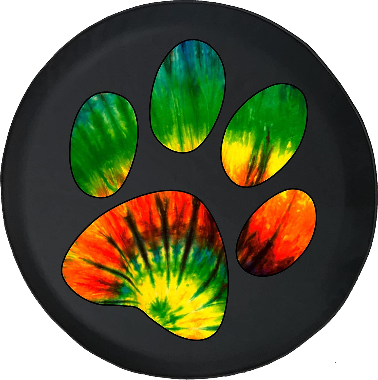 Tie Dye Dog Paw Prints Max 56% OFF Fits or Accessories SUV Spare Limited price sale Trailer RV