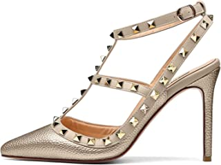 4b791c5383 Amazon.com: Gold - Heeled Sandals / Sandals: Clothing, Shoes & Jewelry