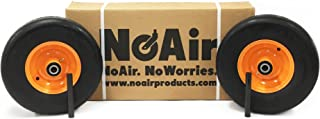 NoAir (2) Scag Flat Free Wheel Assemblies 13x5.00-6 Replaces 482503 9277