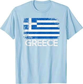 Greek Flag T-Shirt | Vintage Made In Greece Gift
