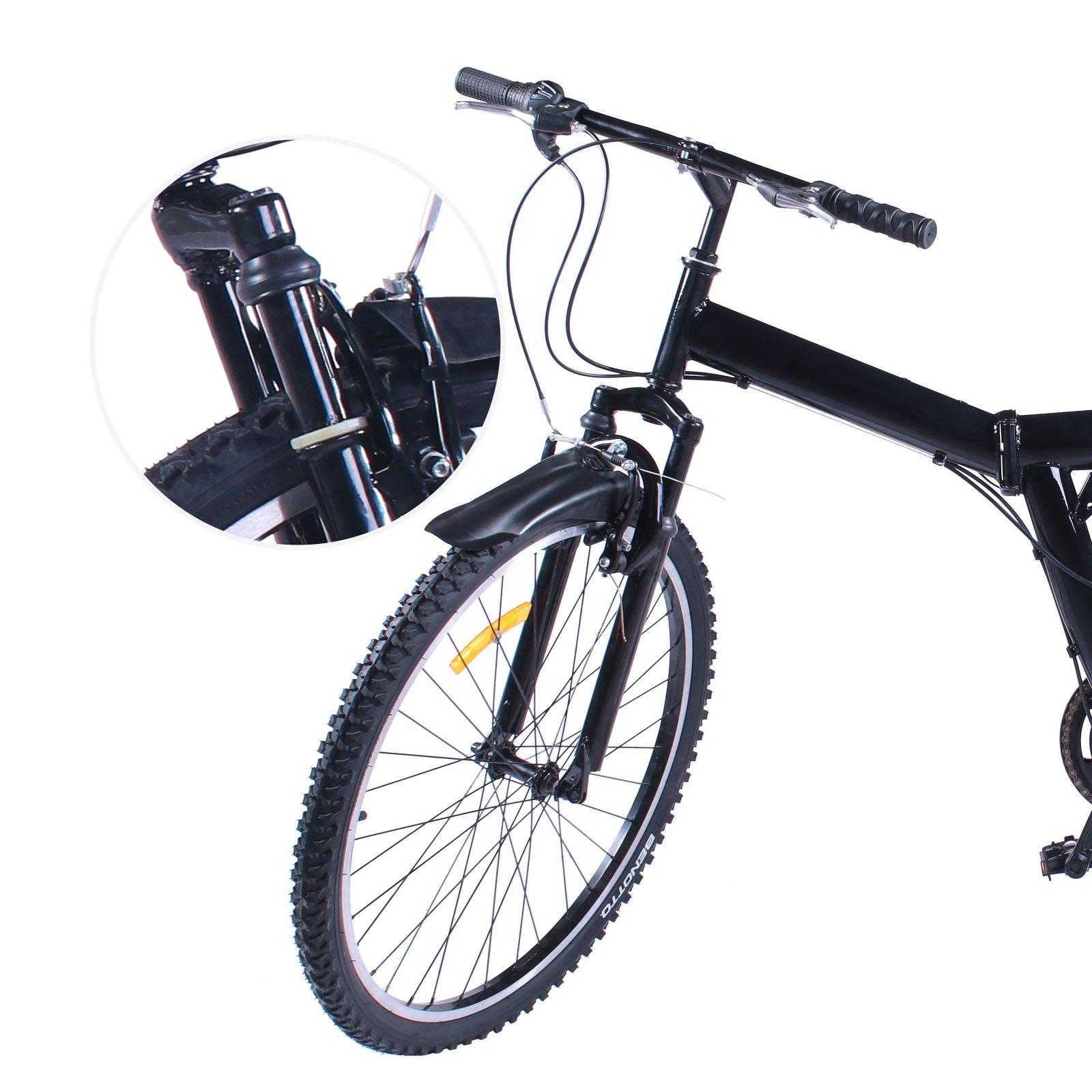 VEVOR Bicicleta MontañA Shimano De Acero Al Carbono MTB 26 Inch ...