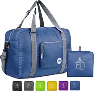 "WANDF 16"" ~ 22"" Foldable Duffle Bag 20L ~ 50L for Travel Gym Sports Lightweight Luggage Duffel 10 Color Choices"