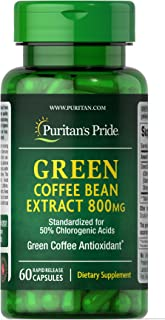 Puritan's Pride Green Coffee Bean Extract 800 mg-60 Capsules
