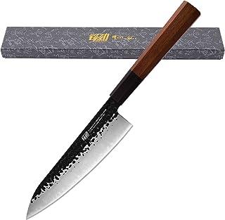 Couteau de chef de 8 pouces par Findking-Dynasty série-3 couches 9CR18MOV plaqué acier avec poignée octogonale couteau Gyuto
