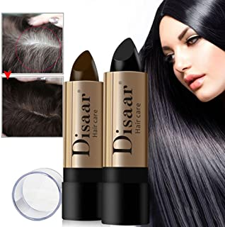 Hair Color Pens, Men Women Black Brown Hair Color Pen Fast Temporary Hair Dye to Cover,10g Hair Color Pen Hair Stick Lasting Fast Temporary Hair Dye to Cover,Hair Dye for Adults (Brown