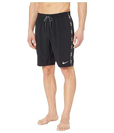 Nike 9 Logo Tape Racer Volley Shorts (Black) Men