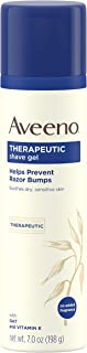 Aveeno Therapeutic Shave Gel with Oat and Vitamin E to Help Prevent Razor Bumps and..