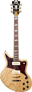 D'Angelico Deluxe Bedford Electric Guitar w/ Seymour Duncan P-90 Pickups - Natural Swamp Ash
