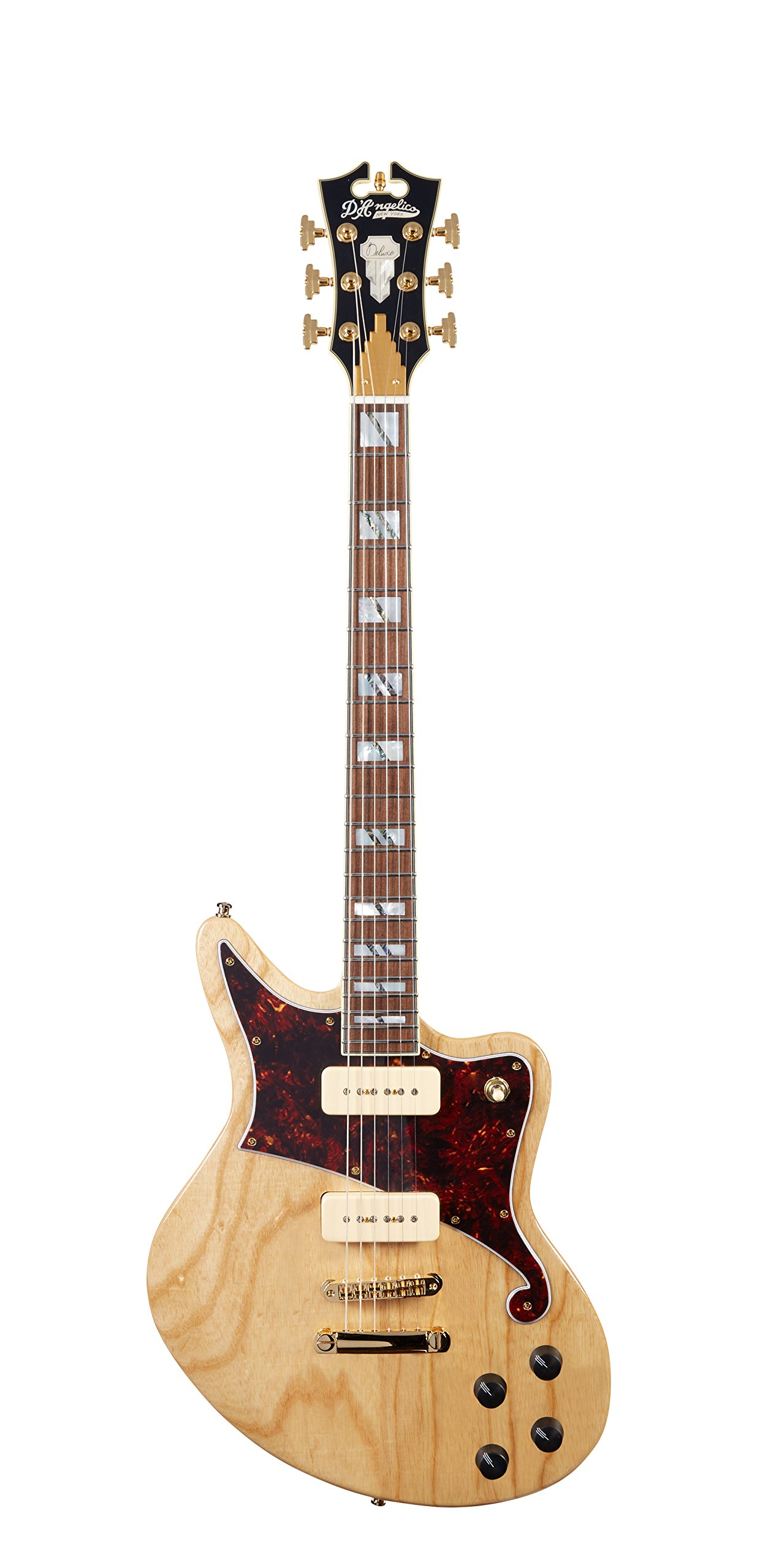 Cheap D Angelico Deluxe Bedford Electric Guitar w/ Seymour Duncan P-90 Pickups - Natural Swamp Ash Black Friday & Cyber Monday 2019