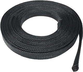 "Seismic Audio - EBS1250Black- 50 Foot Black 1/2"" Expandable Woven Cable Sleeve Tubing Cord Sock"