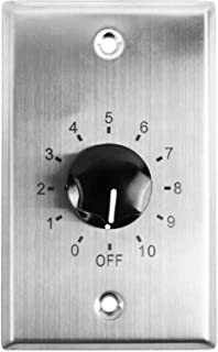 Rockville VOL7035 35 Watt 70v Stainless Wall Volume Control Zone Controller Box