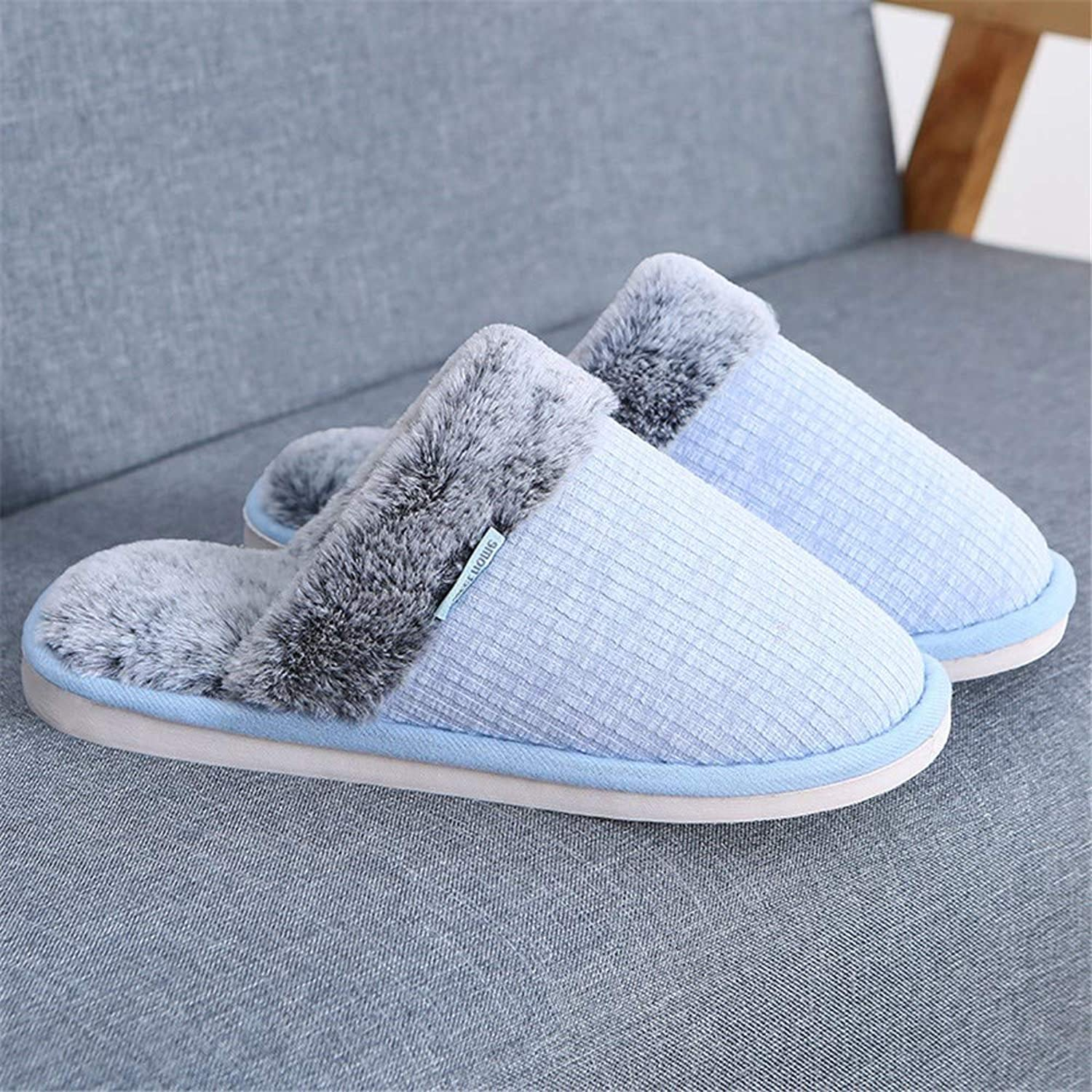 NIGHT WALL Comfortable Slip-on Winter Winter Couple Cotton Slippers Thick Warm Men and Women Indoor Non-Slip Platform shoesHouse shoes Indoor & Outdoor