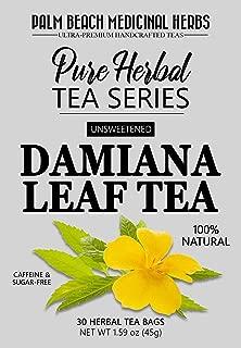 Damiana Leaf Tea - Pure Herbal Tea Series by Palm Beach Medicinal Herbs (30 Tea Bags) 100% Natural