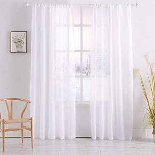 Shield creator window sheer natural White 2 Pannels 54