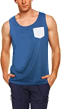 JINIDU Men's Athletic Tank Top Casual Sleeveless Shirt with Pocket for Gym Sport and Training