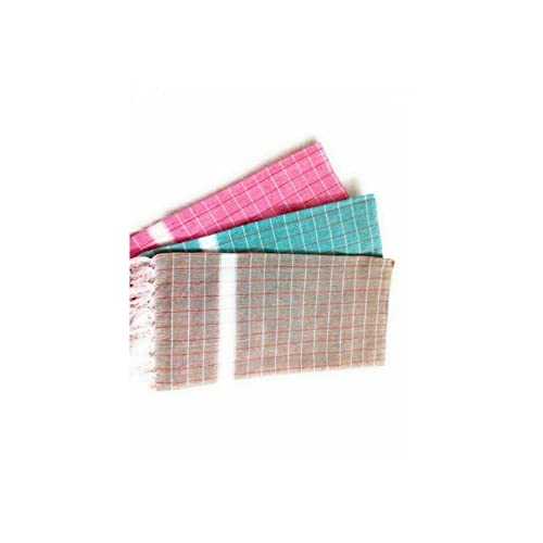 "Looms & Weaves - 3 Cotton Bath Towels - Standard Towel ( 58"" * 29 "")"