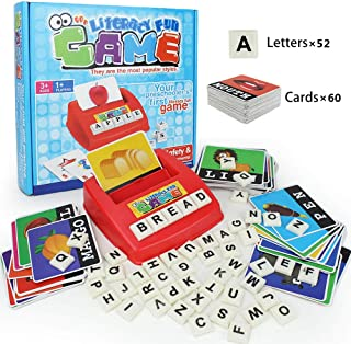 HAPTIME Matching Letter Game Literacy Wiz Game Alphabet Words Reading & Spelling, Language Learning Toy for Preschooler (60 Flash Cards)