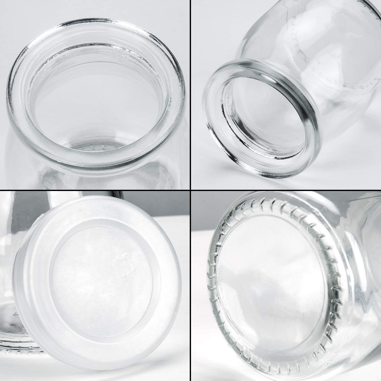 Agreenway Botes para Yogurtera Vasos de Repuesto con Tapa para Yogurtera para Hacer Yogures o Postres Melmeladas 6pc Salsas de Tomate