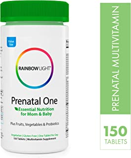 Rainbow Light® Prenatal One Non-GMO Project Verified Multivitamin Plus Superfoods & Probiotics - 150 Tablets