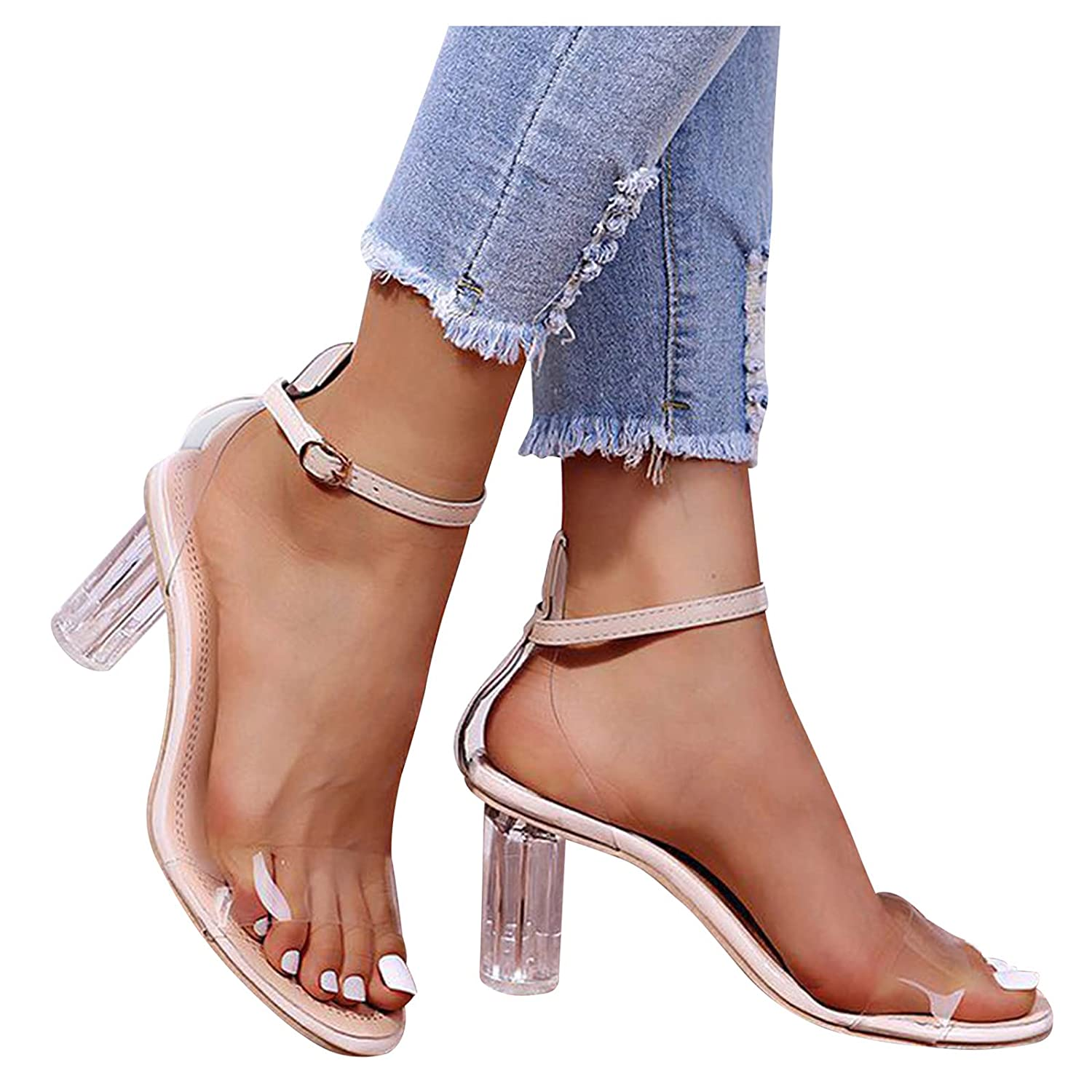 Padaleks Women's Two Strap Heeled National products Shoes Dealing full price reduction Sandal Pump Dress Casual