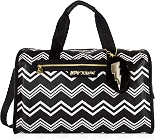 Betsey Johnson Quilted Heart Carry On Weekender Travel Duffel Bag
