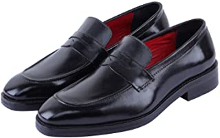 Sponsored Ad - Lethato Men's Handcrafted Genuine Leather Penny Slip-On Leather Lined Loafer