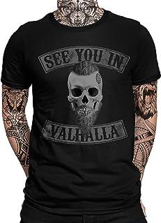 Viking Valhalla Odin Thor Nordmann Wolf - Camiseta de manga corta para hombre y mujer