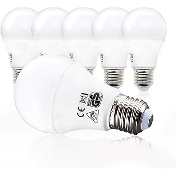 B.K.Licht LED Glühbirne   Ersetzt 75w Halogen   5er Set E27   A60 Leuchtmittel   9 Watt   806 Lumen   2700 Kelvin