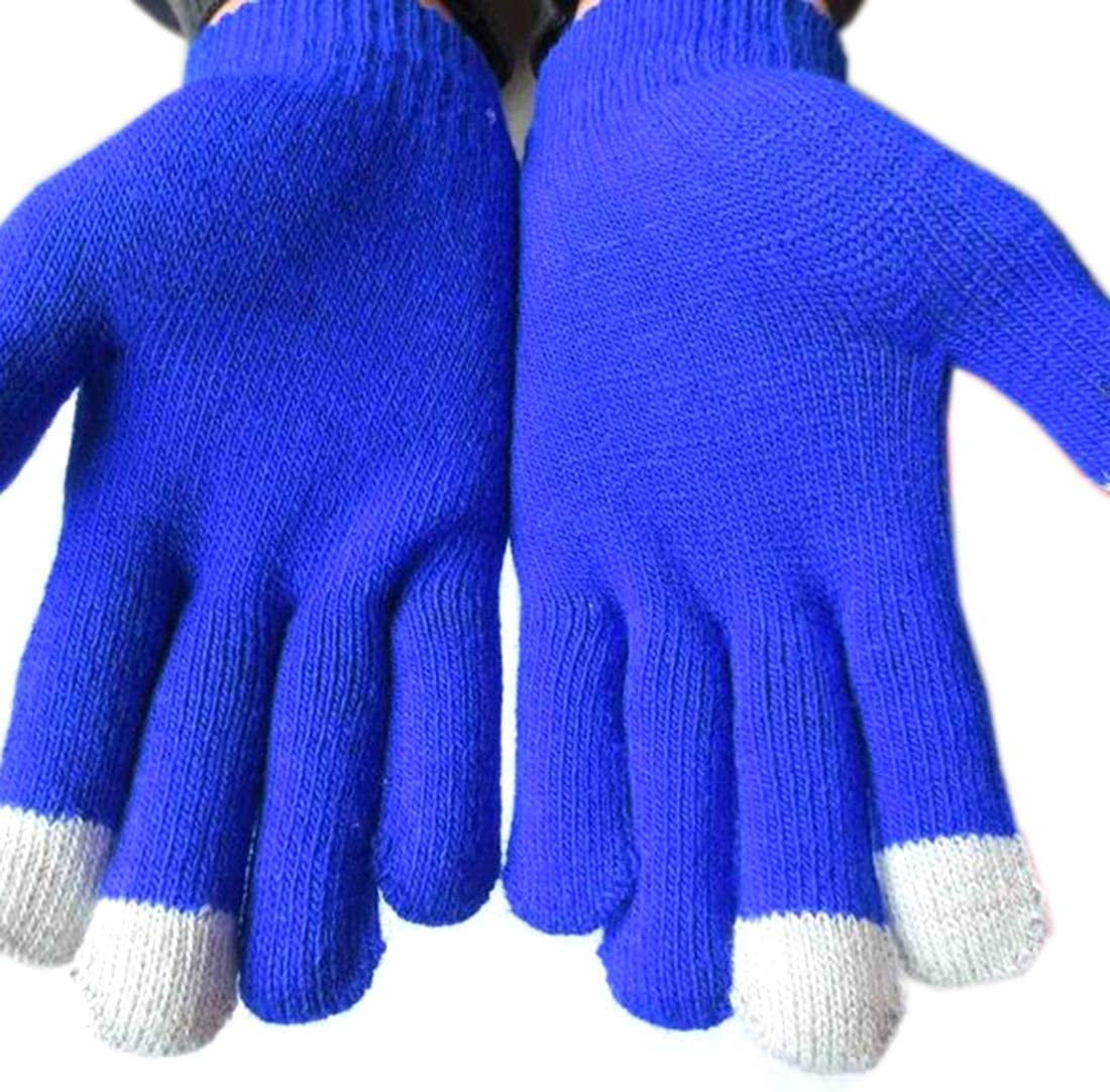 New Arrivals Touch Screen Winter Gloves for Man and Women Solid Cotton Drive Gloves Warm Thick Knitted Mittens guantes - (Color: Navy Blue)