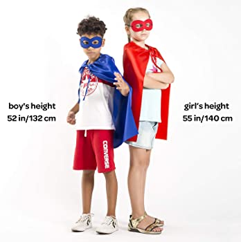Superhero Capes and Masks Set, 24 Sets Bulk Pack Dress Up Costume for Kids Party, DIY Super Hero Capes with Superhero...