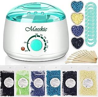 Waxing Kit, Mosskic Wax Warmer Hair Removal Home Wax Kit with 17.6oz Hard Wax Beans for Women Menof All Body, Face, Bikini Area, Legs