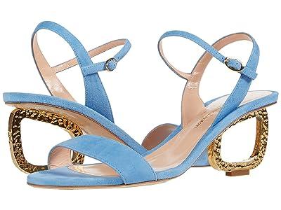 Rupert Sanderson Silhouette Suede (Paraiba Blue) Women