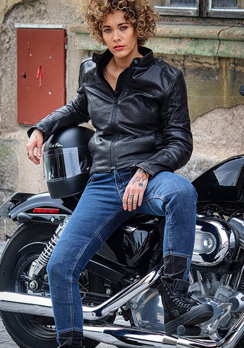 2063-Daring Blau Trilobite Damen Motorradhose Jeans Allshape Daring Fit L32 26