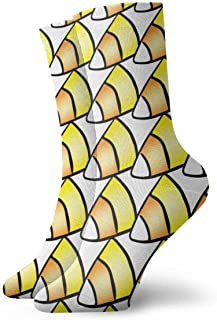 tyui7, Patrones de Halloween Calcetines de compresión antideslizantes de maíz dulce Calcetines deportivos acogedores de 30 cm para hombres, mujeres y niños