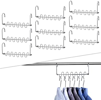 2020 Newlist pack de10 Skroad Magical Hangers Closet Percha de acero inoxidable para ahorrar espacio