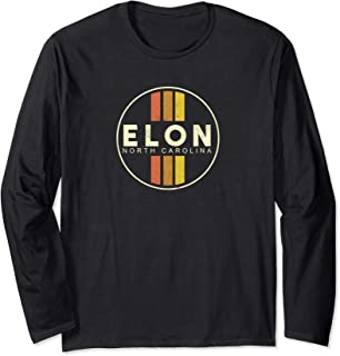 Retro Elon North Carolina Long Sleeve T-Shirt