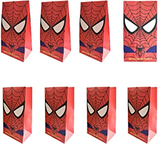 25 Pack Spiderman Party Bags Goodie bags for Kids Superhero Themed Party,Halloween Candy Party Bags GiftBags